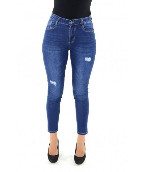 Jeans con Strappi 6551 Jeans donna EC6551