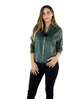 Felpa Dainetto con Borchie 97224 Maglieria e t-shirt donna EC97224