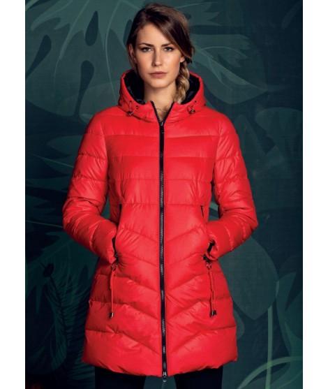 Piumino Cappuccio Vanet Color Red Size 42
