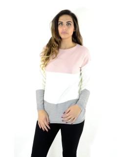 Maglia Tricolor Taschino 97466 Maglieria e t-shirt donna EC97466