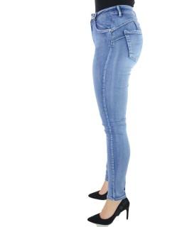 Jeans con Bottone 982 Jeans donna EC982