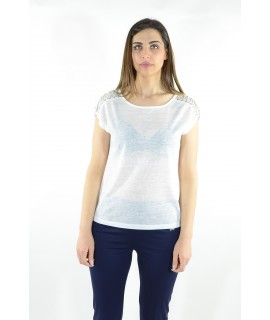 Maglia 15E401 5 Pezzi S-XXL (Bianco) Maglieria e t-shirt donna AR15E401BIANCO