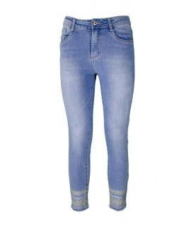 Jeans Ricamati 1023 Jeans donna EC1023