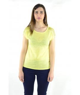 Maglia 15E401 5 Pezzi S-XXL (Giallo) Maglieria e t-shirt donna AR15E401GIALLO