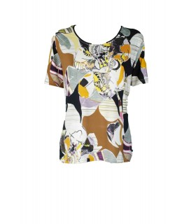 T-shirt Astratta 8D379 Maglieria e t-shirt donna EC8D379