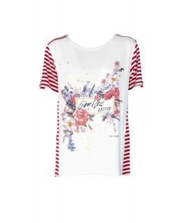 T-shirt Righe 9095 Maglieria e t-shirt donna CF9095