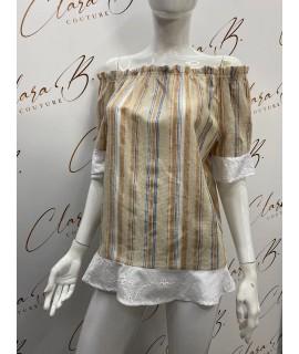 Bluse Righe 08302 Camicie e Bluse donna CB08302