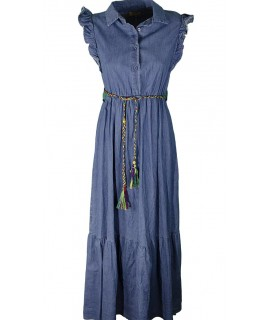 Vestito Lungo Jeans 21322 Vestiti donna MII21322