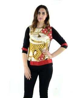 Maglia Fantasia 6642 Maglieria e t-shirt donna KC6642