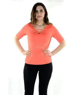 Maglia 16E085 5 Pezzi S-XXL (Arancio) Maglieria e t-shirt donna AR16E085ARANCIO