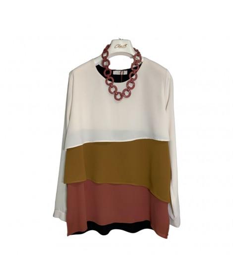 Bluse Tricolor 01189 Camicie e Bluse donna CB01189