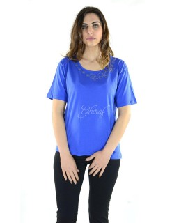 T-shirt Scollo Strass 015 Maglieria e t-shirt donna MER8/015