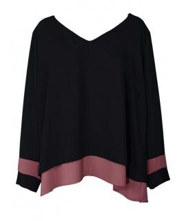 Bluse Curvy Bicolor 1520 Maglieria e t-shirt donna RHD1520