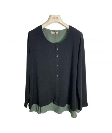 Finto Cardigan 08643 Maglieria e t-shirt donna CB08643