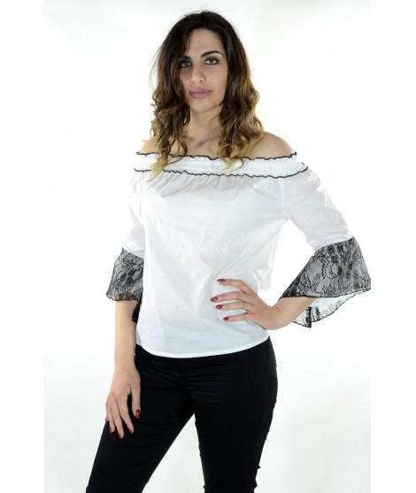 Bluse Manica Pizzo 136 Camicie e Bluse donna ECCR136