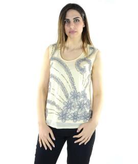Canotta Ricamata 7065 Maglieria e t-shirt donna COFX7065