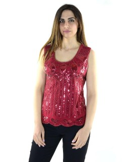 Canotta Paillettes 7074 Maglieria e t-shirt donna COFX7074