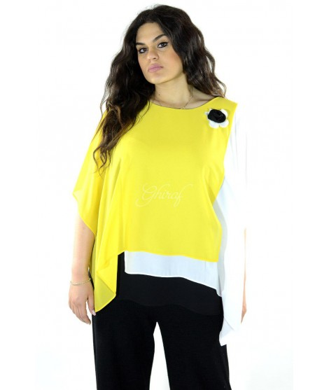 Bluse Bicolor 5564 Camicie e Bluse donna DB5564